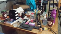 My messy table.
